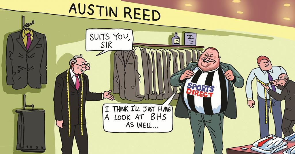 Blower S Retail Cartoon Sports Direct S Mike Ashley Eyes Austin Reed And Bhs Cartoon Retail Week