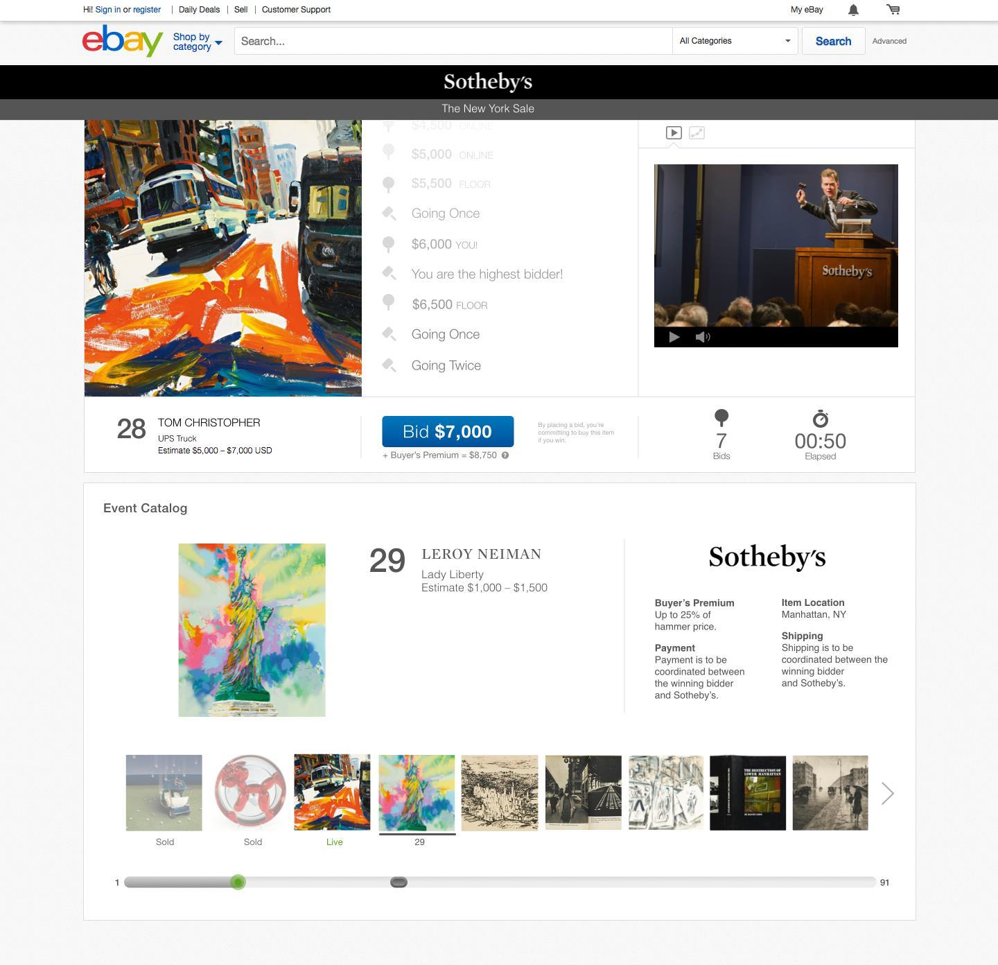 Ebay And Sotheby S First Online Auction To Take Place On April 1 News Retail Week