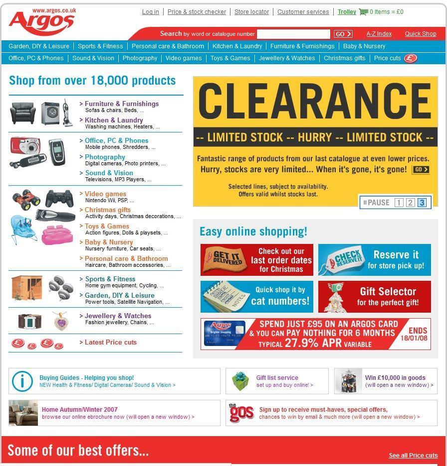 Etail Evolution: Argos's website through the years | Analysis