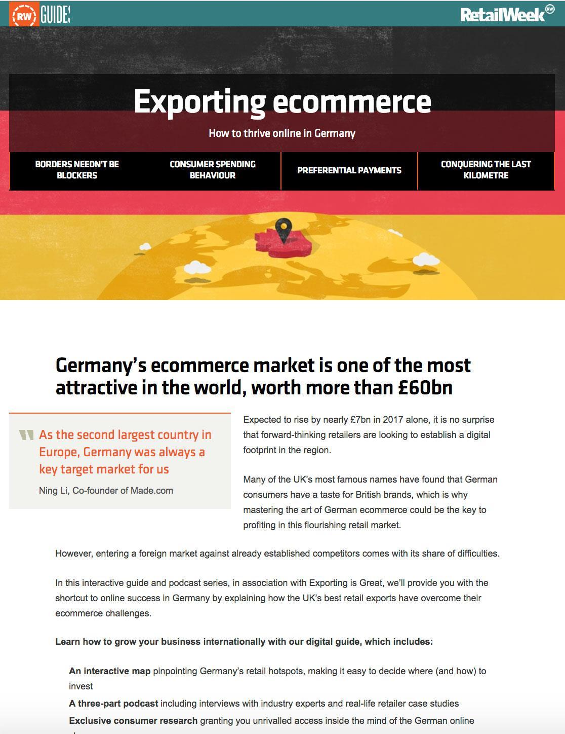 Exporting Ecommerce – How to Thrive Online in Germany