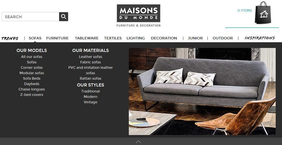 at a glance maisons du monde the french retailer hitting. Black Bedroom Furniture Sets. Home Design Ideas