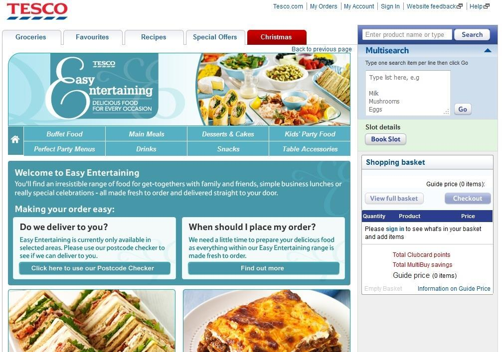 Tesco Launches Online Party Food Shop News Retail Week