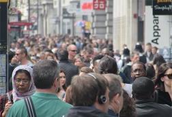 older shoppers grey pound oxford street