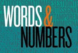 Words and numbers