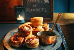 Sainsburys pigs in blankets in yorkshires