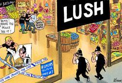 Blower Lush cartoon 5 June