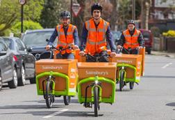 Sainsburys electric cargo bike