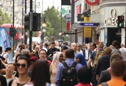 London was the second most popular shopping destination in a CBRE study
