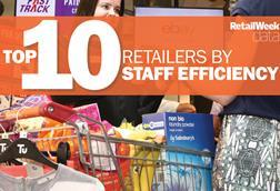 The UK's top 10 retailers by staff efficiency