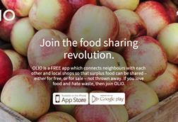 Olio helps to reduce food waste