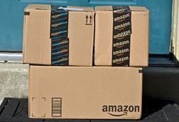 Amazon parcels outside door