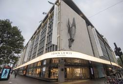 The new John Lewis & Partners branding at the Oxford Street store