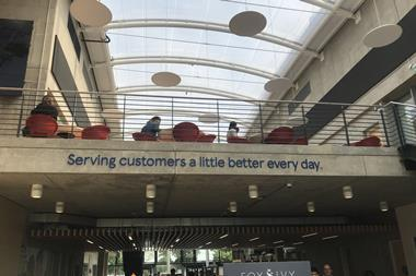 Tesco's mantra takes pride of place in the Heart building, reminding staff of its core purpose.