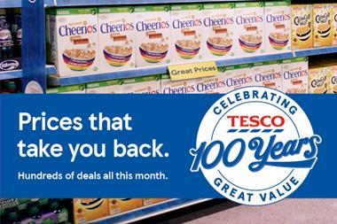 Tesco 100 years price campaign