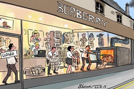 Patrick Blower Burberry cartoon 24 July