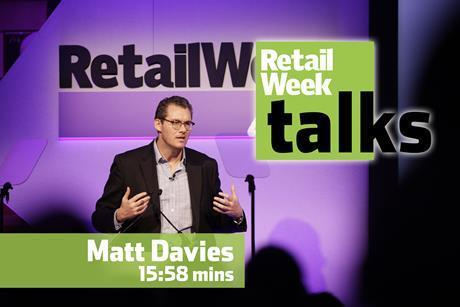 Matt Davies Retail Week Live 2016