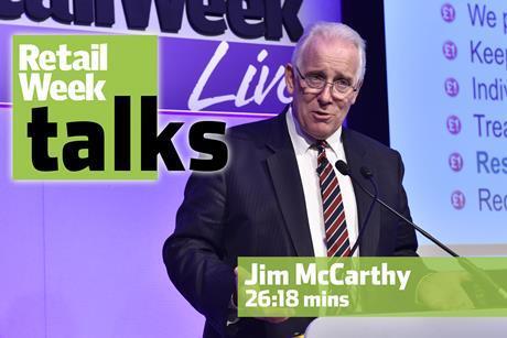 Jim McCarthy Retail Week Live 2016