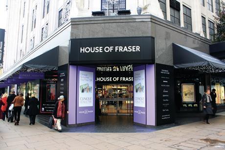 house of fraser. oxford st