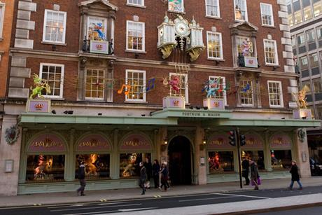 Fortnum and Mason was hit by protests