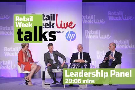 Leadership panel Retail Week Live 2015