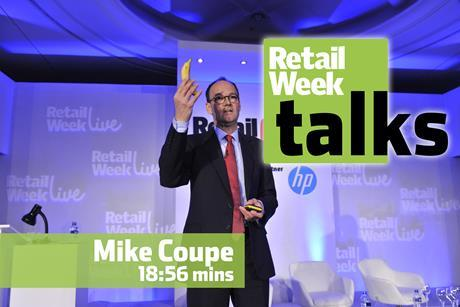 Mike Coupe Retail Week Live 2015