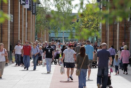 sunny weather boosts footfall