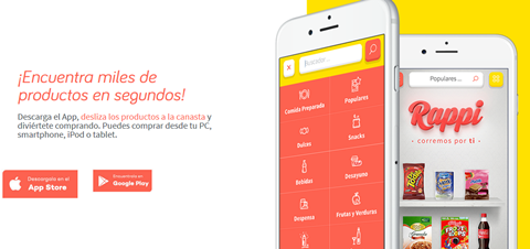 Rappi app lets users shop for groceries by swiping
