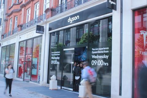 Dyson is one of the brands that has opened stores