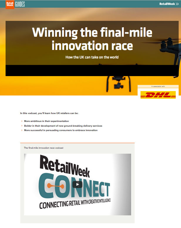Vodcast with DHL: Winning the final-mile innovation race