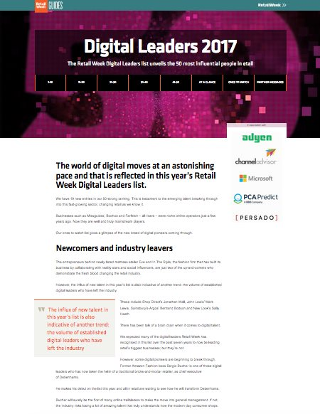Digital Leaders 2017 cover