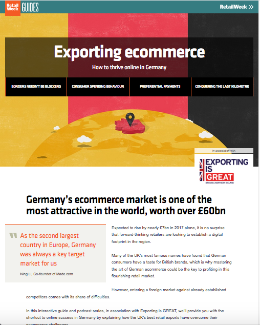 Exporting ecommerce