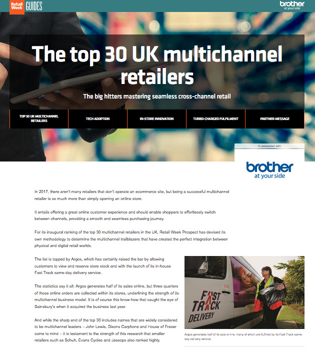 Brother Top 30 Multichannel Retailers