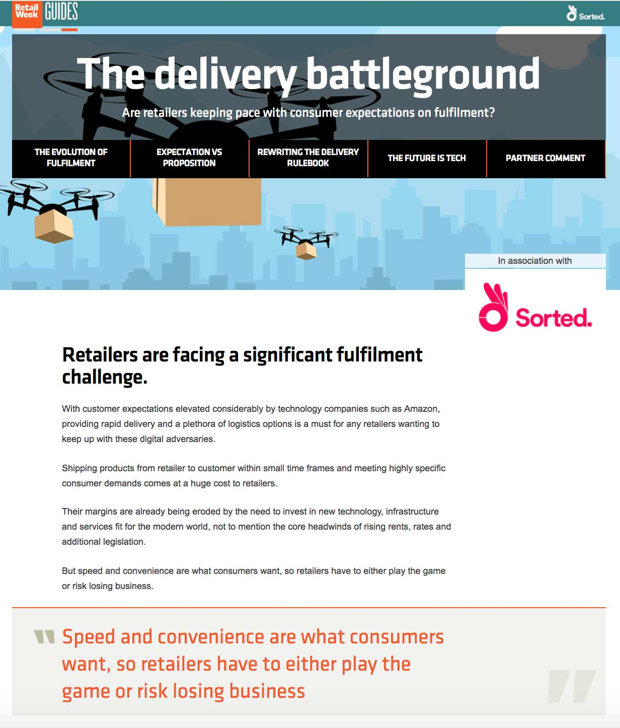 The delivery battleground